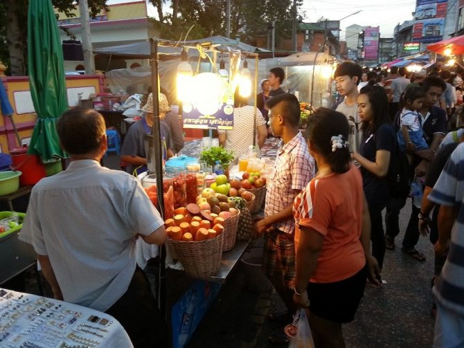 Saturday Night Market in Surat Thani