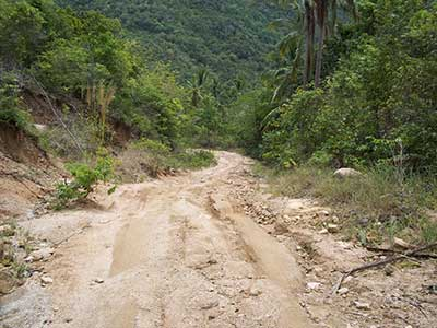 road in Eastern Koh Phangan