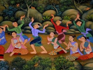 The Chak Phra festival has been celebrated for a long time in Thailand
