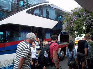 bus from Suratthani to Bangkok