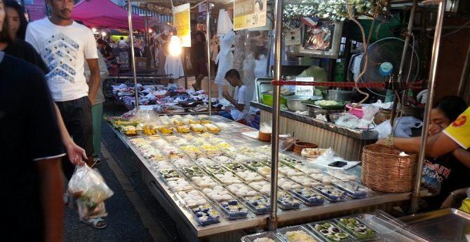 Thai sweet stall at Surat Thani Night Market