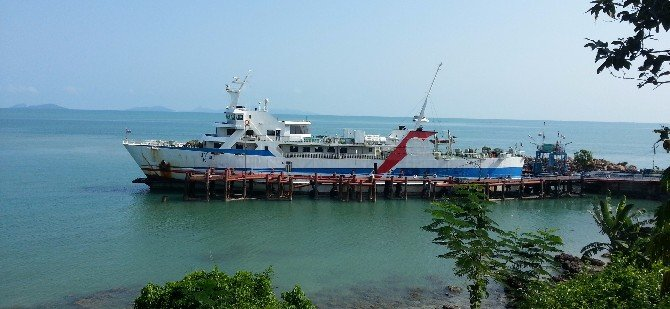 Raja Car Ferry docked at Donsak Raja Ferry Port