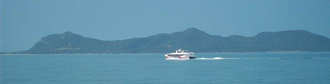 Lomprayah Ferry cruising past Koh Samui