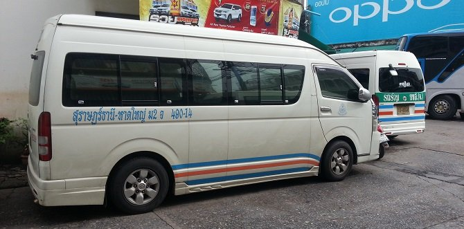 Minivan from Surat Thani to Phuket
