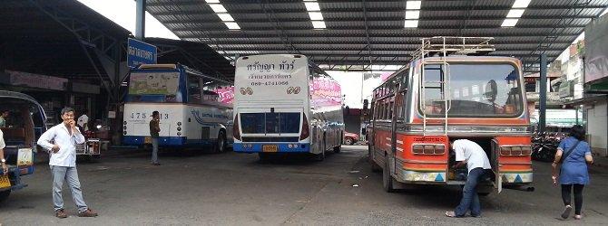 Talad Kaset Bus Station in Surat Thani
