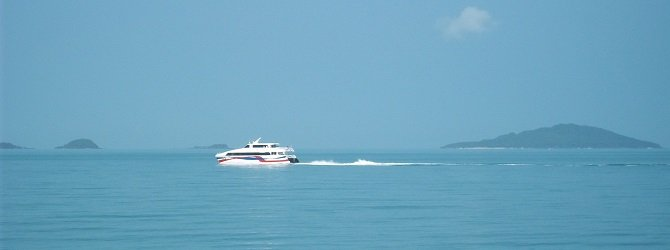 The Lomprayah Company has a fleet of fast catamaran ferries