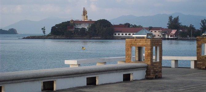 View of Koh Samui's Big Buddha from Bangrak Seatran Pier