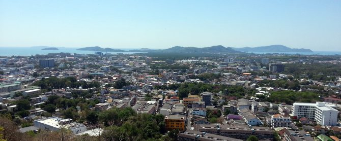 View over Phuket Town