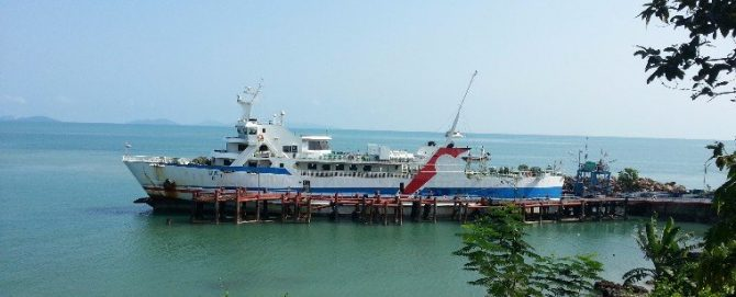 Raja Car Ferry ready to depart to Koh Samui