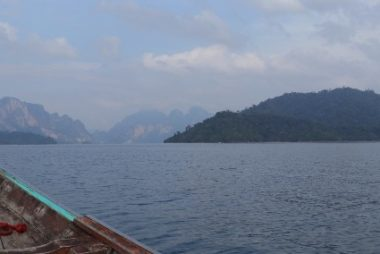 Boat tour on Cheow Lan Lake