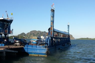 Car ferry at Khlong Mak Pier