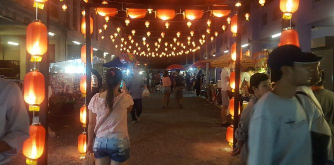 Chinese Walking Street in Koh Samui