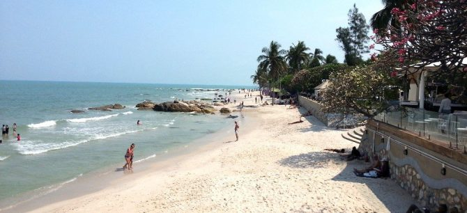 Town centre beach in Hua Hin