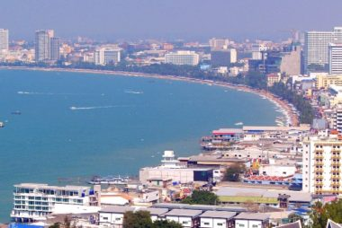 Beach front in Pattaya City