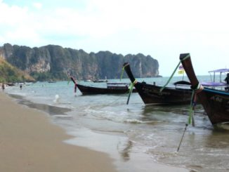 Longtail boats on Ao Nang Beach