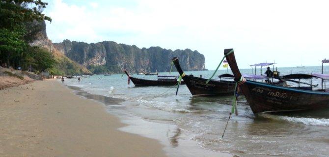 Longtail boats on Ao Nang Beach