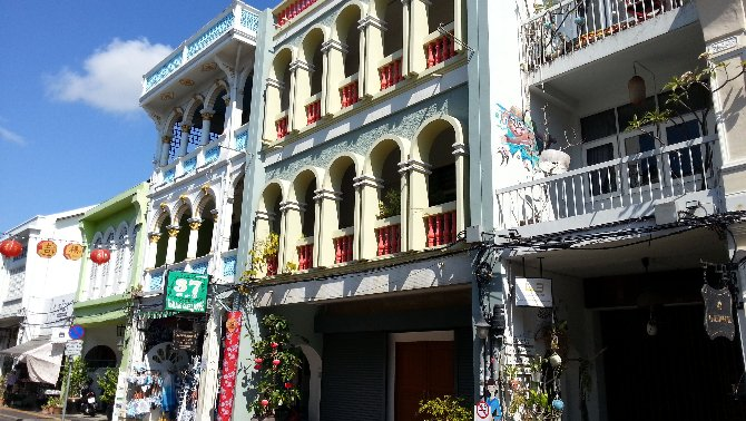 Sino-Portuguese architecture on the Thalang Road