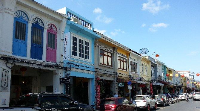 The Thalang Road in Phuket