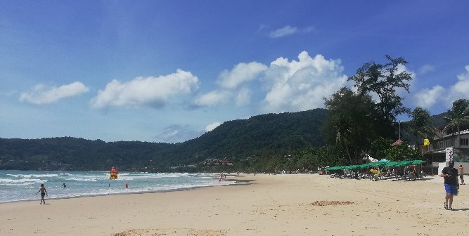 Looking north on Patong Beach