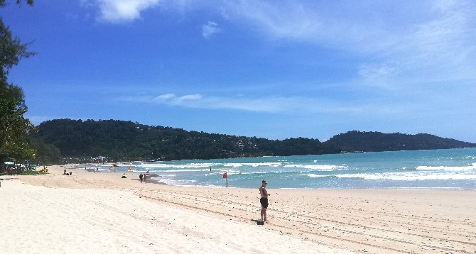 Looking south on Patong Beach