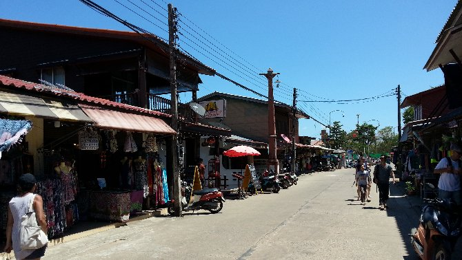 Main street in Koh Lanta Old Town