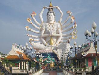 Wat Plai Laem is located in the North Eastern corner of Koh Samui